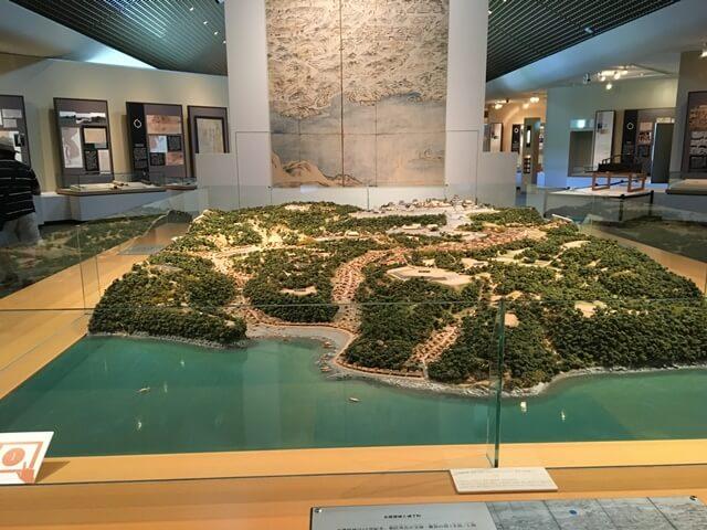 名護屋城博物館のジオラマ