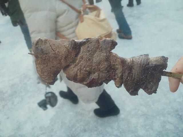 雪まつり_屋台_えぞ鹿の肉