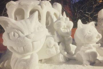 さっぽろ雪まつり雪像_猫