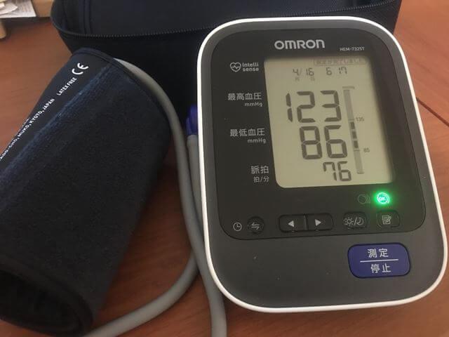 オムロン HEM-7325T測定